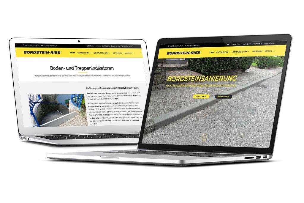 Bordstein-Ries GmbH - Webdesign Eichsfeld / Leinefelde