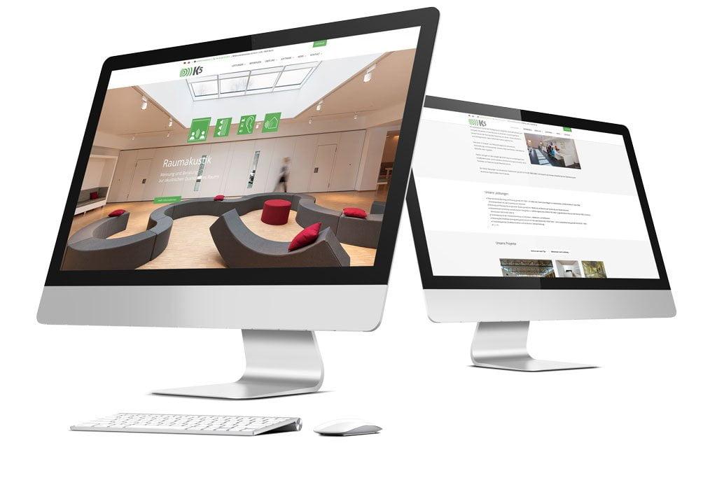 Ansicht auf Computern mit großen Bildschirmen