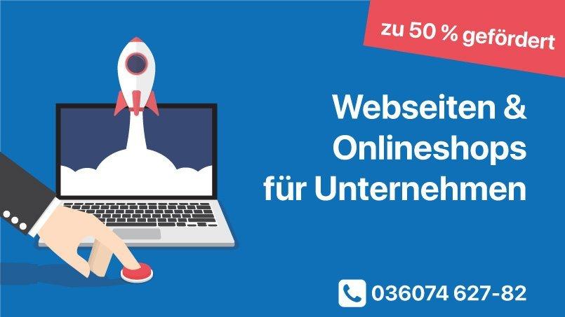 Webseiten zu 50% gefördert - Eichsfeld, Jena, Erfurt Webdesign